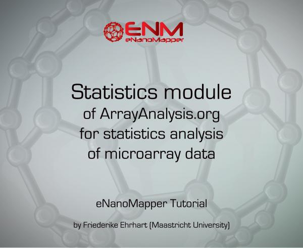 How to use the statistics module of ArrayAnalysis.org for statistics analysis of microarray data