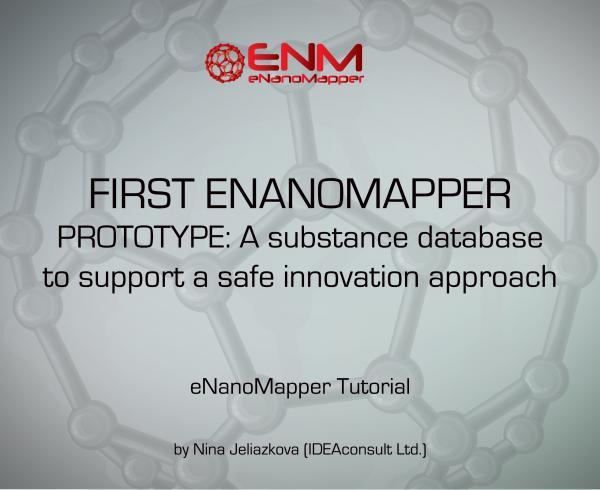 WEBINAR: The first eNanoMapper prototype