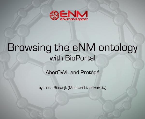Browsing the eNM ontology with BioPortal, AberOWL and Protégé