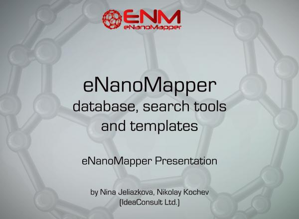 eNanoMapper database, search tools and templates