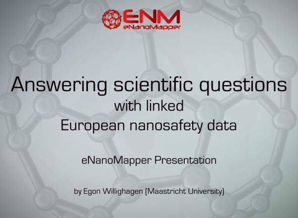 Answering scientific questions with linked European nanosafety data