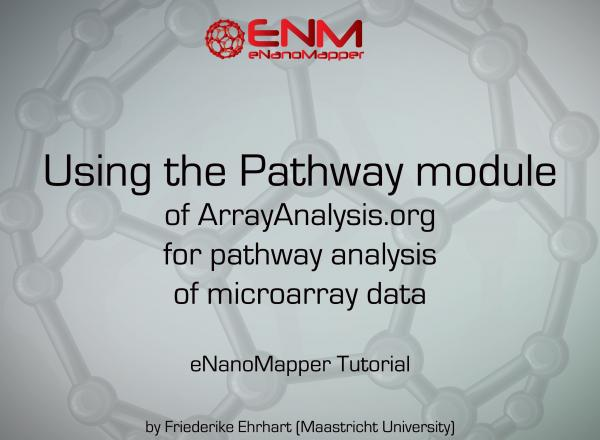 eNanoMapper tutorial: Pathway analysis of microarray data